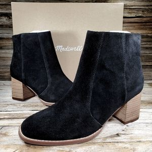 Madewell Bryce Calf Suede Ankle Chelsea Boots